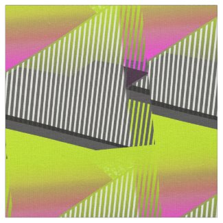 Neon 80s Abstract Pattern Fabric