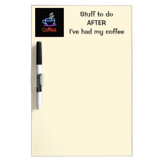 Neon Coffee Shop Sign Dry-Erase Whiteboards