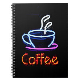 Neon Coffee Sign Notebook