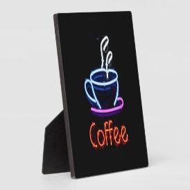 Neon Coffee Sign Plaque