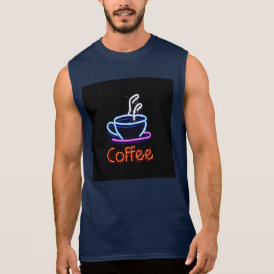 Neon Coffee Sign Sleeveless Shirt