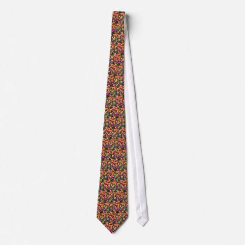 Neon Tulips Tie tie