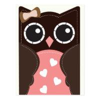 Neopolitan Valentine Owl Classroom Cards for Kids