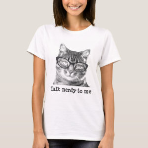 Nerdy cat t shirts for women