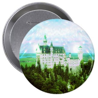 Neuschwanstein Castle - Fairy Dust Photo Edit 1 Inch Round Button
