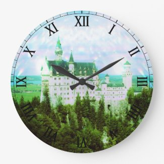 Neuschwanstein Castle - Fairy Dust Photo Edit Wallclock