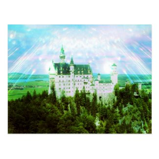 Neuschwanstein Castle - Fairy Dust Photo Edit Post Card