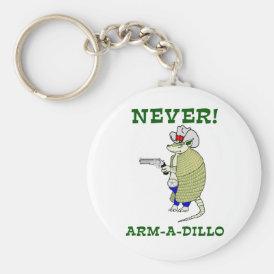 Never Arm-A-Dillo Keychain