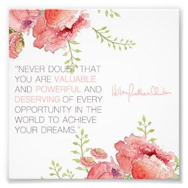 Never Doubt - Hillary Clinton 6x6 Print