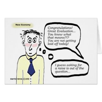 New Economy - Cartoon Guy - Card card