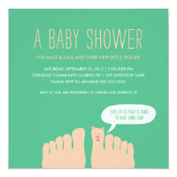 New Little Piggies Baby Shower Card