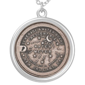 New Orleans Water Meter Lid Art necklace