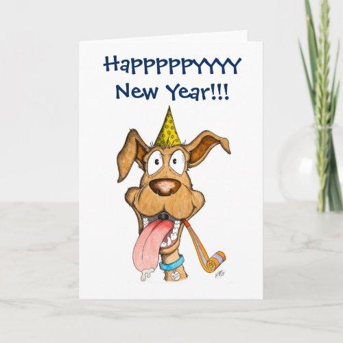 New Year: Dog (Boom Boom) Holiday Card