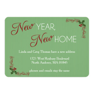 happy new year from our new home card