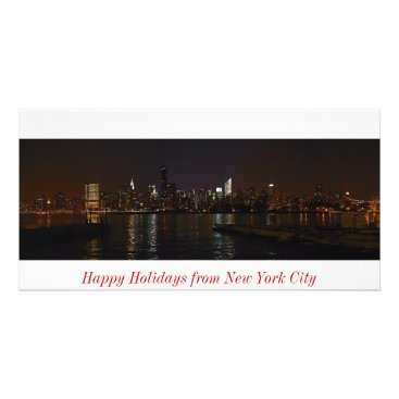 New York skyline photo Happy Holidays card