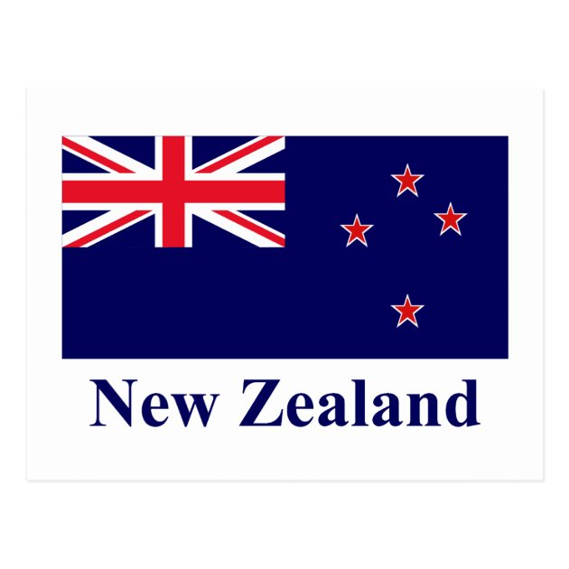 New Zealand Flag With Name Postcard