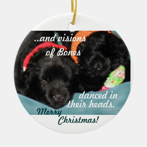 Newfoundland Puppies Christmas Ornament Zazzle