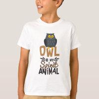 Nice Owl Is My Spirit Animal Print T-Shirt