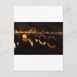 Night Bridge Post Card