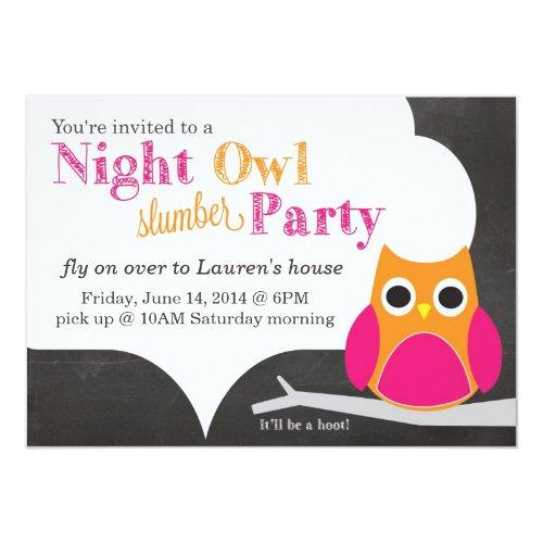 Night Owl Slumber Party Invitation