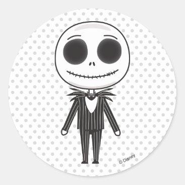 Nightmare Before Christmas | Jack Emoji Classic Round Sticker