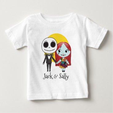 Nightmare Before Christmas | Jack & Sally Emoji 2 Baby T-Shirt