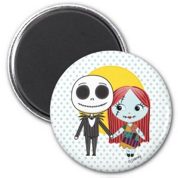 Nightmare Before Christmas   Jack & Sally Emoji Magnet