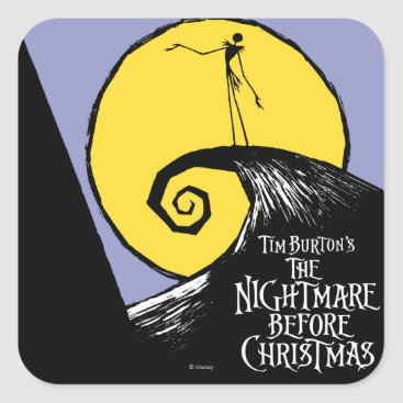 Nightmare Before Christmas Square Sticker