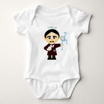 Nikola Tesla Baby Bodysuit