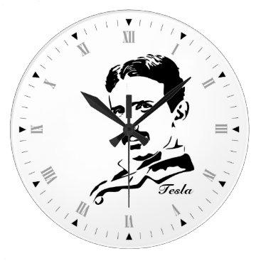 Nikola Tesla Large Clock