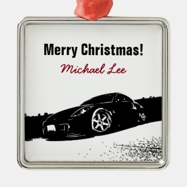Nissan 350Z front stance Metal Ornament