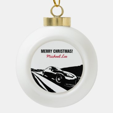 Nissan 350Z Rolling Shot Ceramic Ball Christmas Ornament