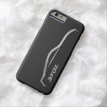 Nissan 350Z Silver BruishstrokeLogo w/ Faux Carbon Barely There iPhone 6 Case
