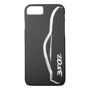 Nissan 350Z White Silhouette Logo iPhone 8/7 Case
