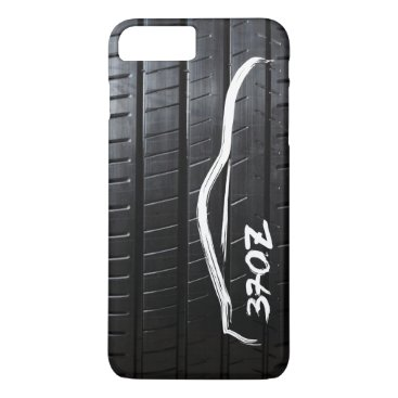 Nissan 370Z brushstroke with Tire Tread iPhone 8 Plus/7 Plus Case