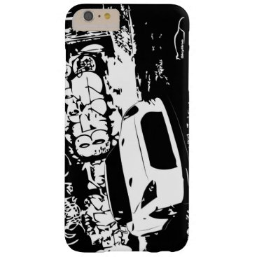 Nissan Skyline GTR with Graffiti Backdrop Barely There iPhone 6 Plus Case