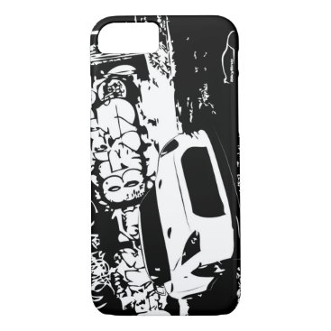 Nissan Skyline GTR with Graffiti Backdrop iPhone 8/7 Case