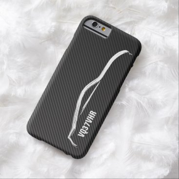 "Nissan ""VQ37VHR"" 370z w/ Faux Carbon Fiber Barely There iPhone 6 Case"