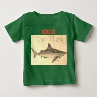 Niuhi Tiger Shark Kids T-shirt