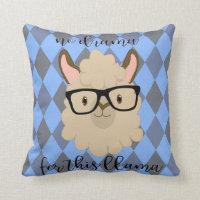 no drama for this llama pillow