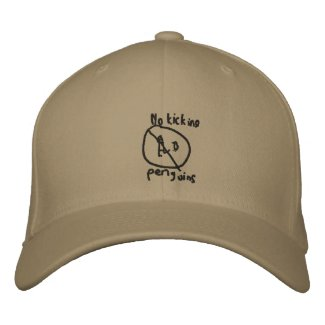 No Kicking Penguins embroideredhat