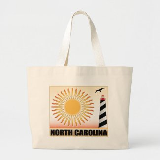 North Carolina Lighthouse Sun Canvas Bags