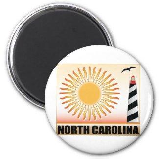 North Carolina Lighthouse Sun Magnets