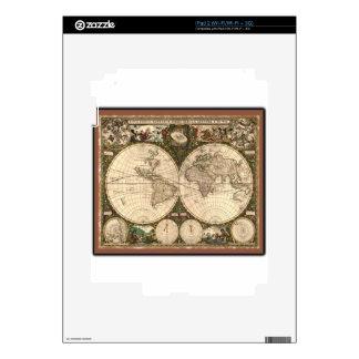 Nova totius terrarum orbis tabula auctore decals for the iPad 2