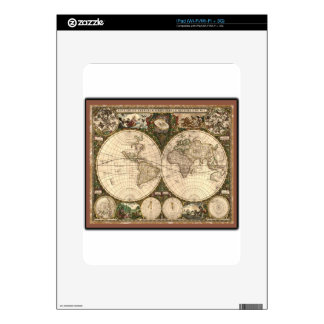 Nova totius terrarum orbis tabula auctore decals for iPad