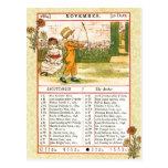 November 1884 Almanac.  Sagittarius, The Archer Postcard