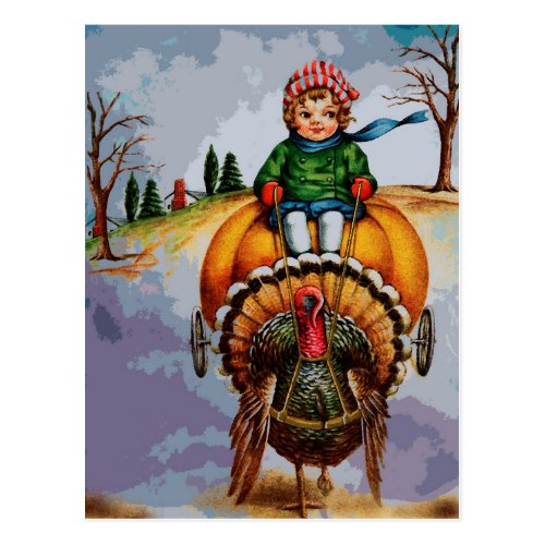NOVEMBER TURKEY TROT POSTCARD