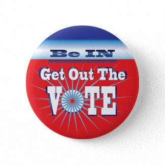 NowPower Get Out The VOTE Button button