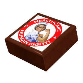 "Nurse ""Rosie"" says ""Healthcare is a Human Right!"" Gift Box"