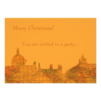 O Little Town of Bethlehem Custom Invitation